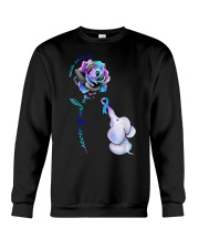 Elephant  suicide awareness rose never give  Crewneck Sweatshirt thumbnail
