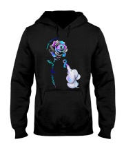Elephant  suicide awareness rose never give  Hooded Sweatshirt thumbnail