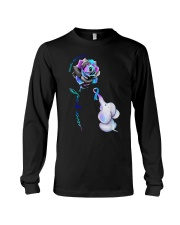 Elephant  suicide awareness rose never give  Long Sleeve Tee thumbnail