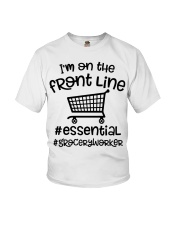 I'm on the front line Essential Grocery worke Youth T-Shirt tile