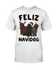 Feliz Navidog Newfoundland Christmas shirt Classic T-Shirt thumbnail