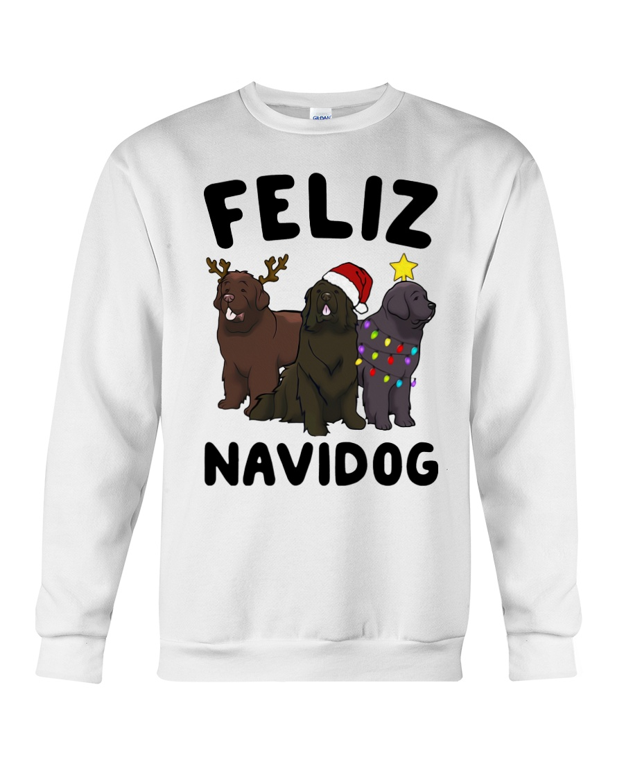 Feliz Navidog Newfoundland Christmas shirt Crewneck Sweatshirt