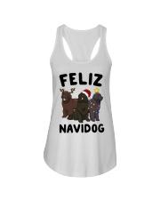 Feliz Navidog Newfoundland Christmas shirt Ladies Flowy Tank thumbnail