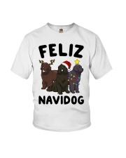 Feliz Navidog Newfoundland Christmas shirt Youth T-Shirt thumbnail