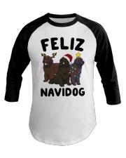 Feliz Navidog Newfoundland Christmas shirt Baseball Tee thumbnail