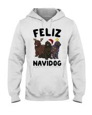 Feliz Navidog Newfoundland Christmas shirt Hooded Sweatshirt thumbnail