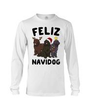 Feliz Navidog Newfoundland Christmas shirt Long Sleeve Tee thumbnail