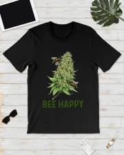 Bee Happy cannabis shirt Classic T-Shirt lifestyle-mens-crewneck-front-17