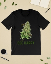 Bee Happy cannabis shirt Classic T-Shirt lifestyle-mens-crewneck-front-19