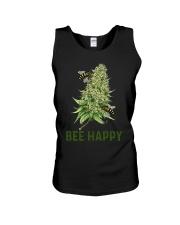 Bee Happy cannabis shirt Unisex Tank thumbnail