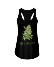 Bee Happy cannabis shirt Ladies Flowy Tank thumbnail