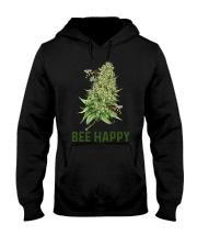 Bee Happy cannabis shirt Hooded Sweatshirt thumbnail