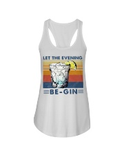 Cocktail Let the evening be-gin shirt Ladies Flowy Tank thumbnail