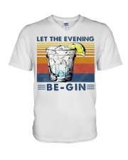 Cocktail Let the evening be-gin shirt V-Neck T-Shirt thumbnail