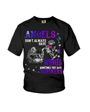 Cat Butterfly Angels Don't Always Wings Whiskers Youth T-Shirt thumbnail