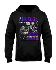Cat Butterfly Angels Don't Always Wings Whiskers Hooded Sweatshirt thumbnail