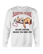 Sloth sleeping nurse do not disturb unless  Crewneck Sweatshirt thumbnail