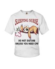 Sloth sleeping nurse do not disturb unless  Youth T-Shirt thumbnail