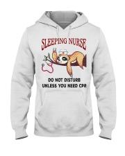 Sloth sleeping nurse do not disturb unless  Hooded Sweatshirt thumbnail
