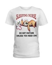 Sloth sleeping nurse do not disturb unless  Ladies T-Shirt thumbnail