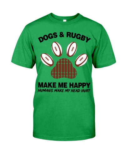 Dogs and Rugby make me happy shirt