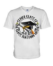 Senior class of 2020 the class that made history  V-Neck T-Shirt thumbnail