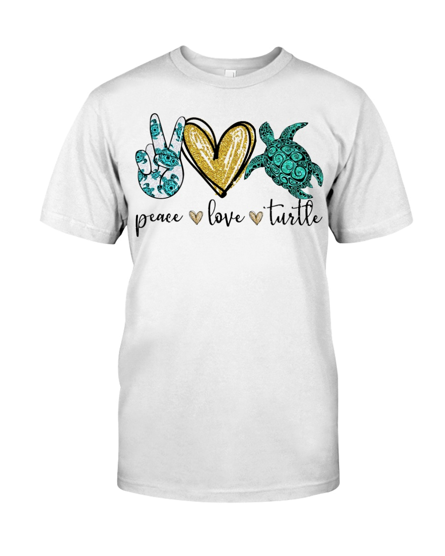 Peace Love Turtle shirt Classic T-Shirt