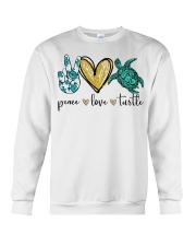 Peace Love Turtle shirt Crewneck Sweatshirt thumbnail