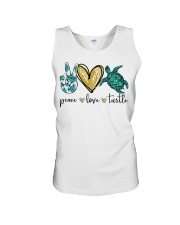Peace Love Turtle shirt Unisex Tank thumbnail