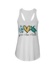 Peace Love Turtle shirt Ladies Flowy Tank thumbnail