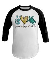 Peace Love Turtle shirt Baseball Tee thumbnail