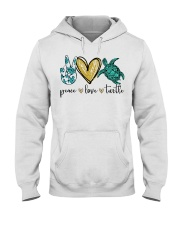 Peace Love Turtle shirt Hooded Sweatshirt thumbnail