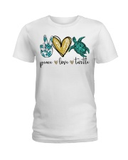 Peace Love Turtle shirt Ladies T-Shirt thumbnail