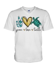 Peace Love Turtle shirt V-Neck T-Shirt thumbnail