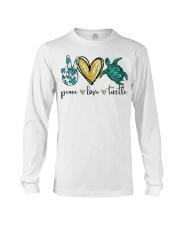 Peace Love Turtle shirt Long Sleeve Tee thumbnail