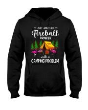 Flamingos camping - Just Fireball a camping  Hooded Sweatshirt thumbnail