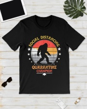 Bigfoot Social Distancing Quarantine Champion  Classic T-Shirt lifestyle-mens-crewneck-front-17