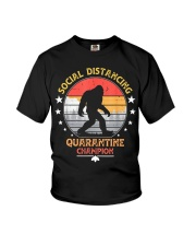 Bigfoot Social Distancing Quarantine Champion  Youth T-Shirt thumbnail