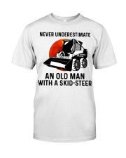 Never underestimate an old man with a skid Classic T-Shirt front