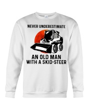 Never underestimate an old man with a skid Crewneck Sweatshirt thumbnail