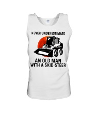 Never underestimate an old man with a skid Unisex Tank thumbnail