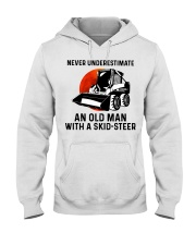 Never underestimate an old man with a skid Hooded Sweatshirt thumbnail