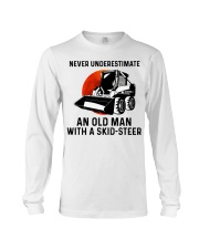 Never underestimate an old man with a skid Long Sleeve Tee thumbnail