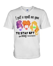 I Put A Spell On You To Stay 6ft Away Hocus  V-Neck T-Shirt thumbnail