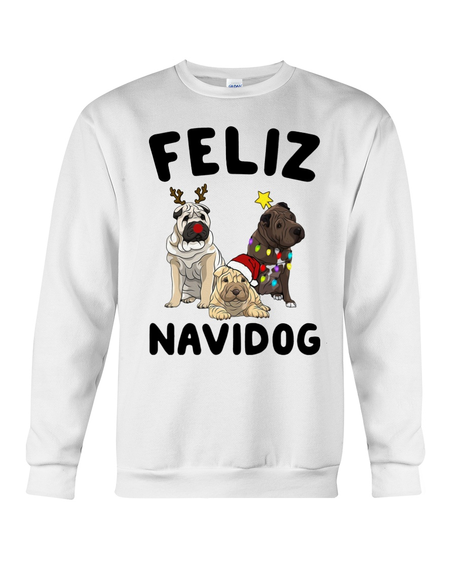 Feliz Navidog Shar Pei Christmas shirt Crewneck Sweatshirt