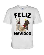 Feliz Navidog Shar Pei Christmas shirt V-Neck T-Shirt thumbnail