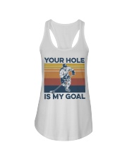 Hockey your hole is my goal vintage t-shirt Ladies Flowy Tank thumbnail