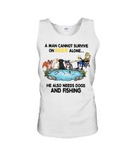 Man Beer Dogs Fishing shirt Unisex Tank thumbnail