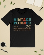Vintage Plumber define knows more than he says  Classic T-Shirt lifestyle-mens-crewneck-front-19