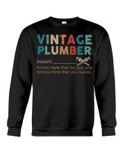 Vintage Plumber define knows more than he says  Crewneck Sweatshirt thumbnail
